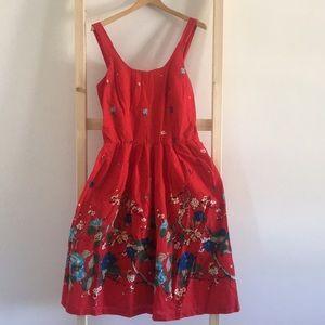 Vintage 80's Era Cherry Blossom Dress